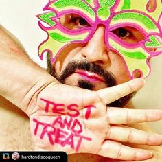 Test and treat! Share the love and lets end HIV!  @hardtondiscoqueen  for #worldaidsday #worldaidsday2017 #testandtreat . . Mask by @yapwilli