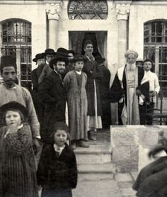 """Jewish wedding in the Middle East 1904. """"The Jewish marriages are celebrated with great pomp, the nuptial feast continuing seven days.The bride is accompanied by her mother and near relations, and the ceremony is performed in the presence of as many, as can find room in the house The Castle band of musicians is employed the first day,and, on the subsequent days they have chamber music, dancers, and buffoons. """" ALEX RUSSELL,M.D. [ THE NATURAL HISTORY OF ALEPPO ]1794."""
