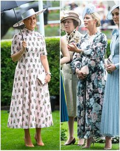 The Duchess chose an elegant, fairytale-like Elie Saab ensemble for today's Royal Ascot. Elie Saab has been a label many Kate-fans have… Duke And Duchess, Duchess Of Cambridge, Zara Phillips, Royal Dresses, Royal Ascot, Queen Elizabeth Ii, Princess Diana, British Royals, Elie Saab