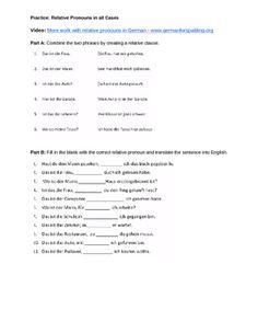 German Relative Pronouns Video Guide