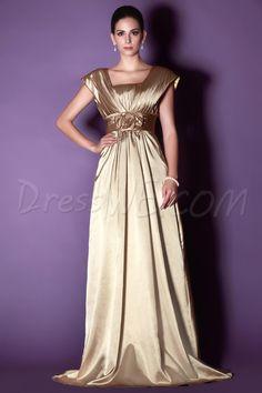 Dresswe.com SUPPLIES Elegant Flowers Tiered A-Line Floor-length Taline's Mother of the Bride Dress Bridesmaid Dresses 2014