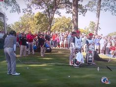 Hilarious--Michael Jordan just sits down randomly in the Tee-Box at the Ryder Cup. M.J. does what M.J. wants to do.....anyone else would be in jail.