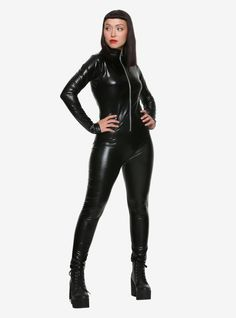 Pvc Catsuit, Black Catsuit, Latex Pants, Latex Suit, Latex Wear, Black Milk Clothing, Black Panther Costume, Girls Bomber Jacket, Tankini With Shorts