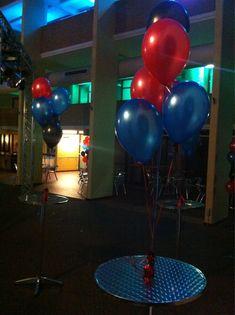 Tafeldecoratie 5ballonnen st. Pieter en Blokland Gasthuis Amersfoort