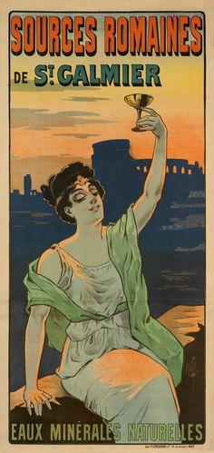 Ferdinand Misti-Mifliez, Poster for St. Vintage French Posters, French Vintage, Ferdinand, Vintage Advertisements, Vintage Ads, Original Vintage, Beautiful Book Covers, Printed Matter, Beautiful Posters