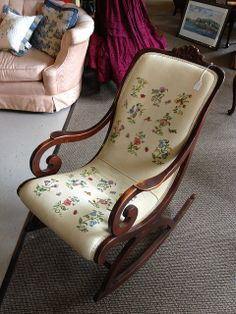 Antique stitched rocker | Flickr - Photo Sharing!