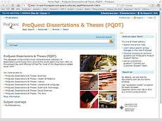 Proquest dissertations submission