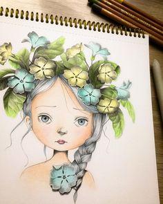 Coloriage Wild by Emmanuelle Colin ##emmanuellecolin #coloriagewild #coloringbook #malbuch #målarbok #adultcoloringbook #malbuchfürerwachsene #kohinoor #softpastelpencil