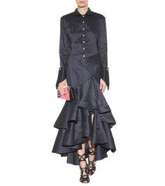 Bidi Bidi Bom navy linen and cotton skirt