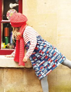 Ooh, what's inside this little shop? Your little Hermione can skip around Knotting Hill children's shops and dance around Hyde Park in her very own London-style Hotchpotch Jersey Dress.  So cute! #boden #fromlondonwithlove