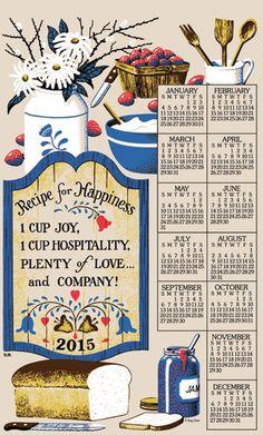 Kitchen-/Tea towel Calendar 2015