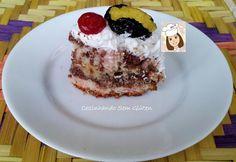 Cozinhando sem Glúten: Bolo - torta mesclado com chocolate