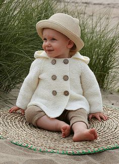 Babyjakke - strik i Ulrika uldgarn fra Svarta Fåret