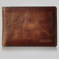 Fossil Men's Derrick Front Pocket Bifold, Brown, One Size: A wallet to fit in your front pocket, this slim style was created to hold your folded cash, carry your ID and organize your creditall at once. Fossil Wallets For Men, Fossil Wallet Men, Branded Wallets, Men's Wallets, 70th Birthday Gifts, Damier, Front Pocket Wallet, Best Wallet, Leather Bifold Wallet
