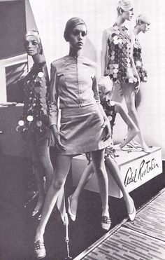 Twiggy with mannequins designed by The Adel Rootstein Studio 1966.