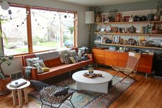 The Duplex, Right Side: Jean & Dylan's Playful, Working Hideaway