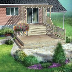 RONA carries supplies for your Build a two-level deck projects. Find how to help your home improvement project. Patio Plan, Deck Plans, Construction Documents, Deck Construction, Two Level Deck, Privacy Fence Landscaping, Deck Framing, Tiered Deck, Cement Patio