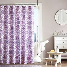 Featuring a bright, colored medallion, the Intelligent Design Lionna Blue Shower Curtain adds pop to your bathroom. Constructed of 100% polyester microfiber, this curtain is machine washable for easy care.