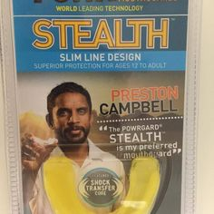 Check out this cool Yellow STEALTH Mouthguard from POWRGARD. Indigenous Rugby League Legend Preston Campbell loved this design of mouthguard. Mouth Guard, Rugby League, Line Design, League Of Legends, League Legends