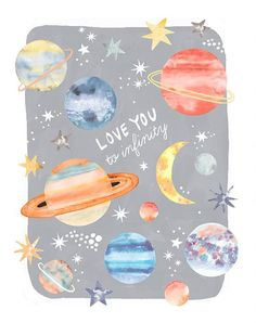 what's in outer space Solar System For Kids, Space Solar System, Planet Drawing, Kids Watercolor, Watercolour, Space Illustration, Space Painting, Space Planets, Hand Drawn Type