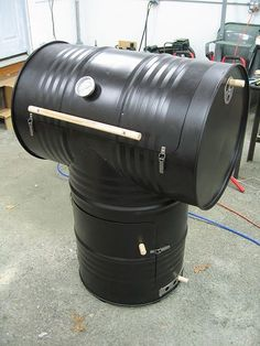 55-Gallon Drum Smoker    ,,, step by step with pictures and instructions