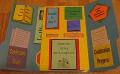 Emmanuel Books and their Sacrament of Confession Faith Folder / Lapbook