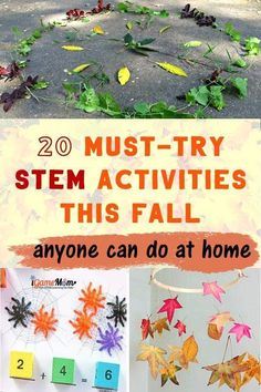 Must-try fall STEM activities every child can do at home, leaves, slimes, spiders, pumpkins, apples. Science, math, tech, engineering, all hands-on and fun.