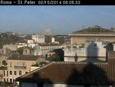 Splendida giornata oggi a Roma. Per vedere la webcam in tempo reale visita http://www.inmeteo.net/webcam/roma/