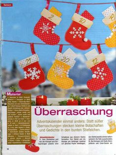 Bastelwelt - Winter & Weihnachten - Muscaria Amanita - Picasa Web Albums Bunt, Christmas Stockings, Holiday Decor, Diy, Albums, Shape Crafts, Christmas Crafts, Doll Crafts, Decorating Girls Rooms