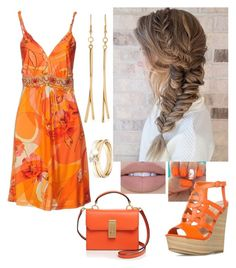 """Orange lady"" by paoladouka on Polyvore featuring Blumarine, Flynn, Kenneth Jay Lane and Loren Stewart"