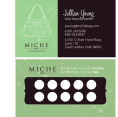 Business Cards - Punch Card. Great idea for http:// anniepom.mialisia.com