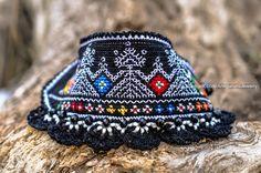 Crochet Bracelet Cuff. Bulgarian Embroidery Bracelet. Freeform Crochet. Crochet Jewelry. Beaded Bracelet. Black Crochet Bracelet. Folklore. by KaterinaDimitrova on Etsy https://www.etsy.com/listing/504129979/crochet-bracelet-cuff-bulgarian