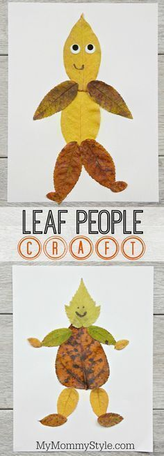 and easy leaf people craft This leaf art project can be used along with a lesson about leaves. This craft great for kids in preschool, kindergarten, and grade.This leaf art project can be used along with a lesson about leaves. This craft great for Fall Crafts For Kids, Autumn Art Ideas For Kids, Leaf Crafts Kids, Autumn Crafts Preschool, Fall Leaves Crafts, Fall Art For Toddlers, Kids Arts And Crafts, September Kids Crafts, Thanksgiving Crafts For Kindergarten