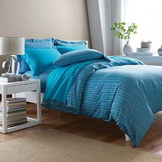 Sale: 71% off on Ryder Stripe Jersey Duvet Cover Queen - The Company Store #beddingset #deals