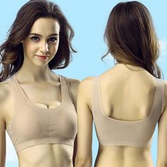 5d2452f5ff129 Women Push Up Wire Free Padded Sports Bra Girls Underwear