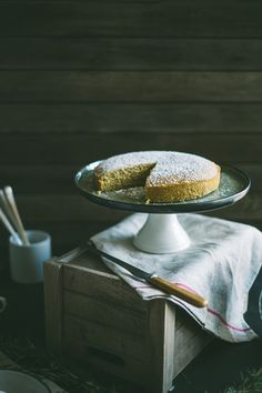 rosemary, semolina olive oil lemon cake