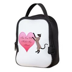 Valentine Cat Neoprene Lunch Bag > Lunch Bags > Atteestude T-Shirts And Gifts  #school supplies