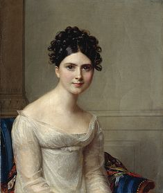 Probably a portrait of Madame Jean-Gabriel Eynard (1793-1868) née Anna Lullin de Châteauvieux, philantrophiste and wife of Swiss banker Jean-Gabriel Eynard | Firmin Massot (date unknown).