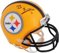 Signed Ben Roethlisberger NFL Pittsburgh Steelers Yellow Throwback Mini  Helmet  FootballHelmet  sportsmemorabilia  autograph 654f3d5d1