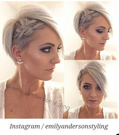 Pixie braids. ♡ Credit: Instagram @emilyandersonstyling