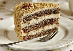 arta culinara: Tort de nucă. Romania Food, Cake Receipe, Romanian Desserts, French Desserts, Sweet Bread, Cakes And More, Vanilla Cake, Food And Drink, Sweets