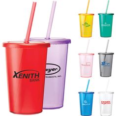 Custom printed Sizzle 16 oz Tumbler with Straw with logo or design. Imprinted Sizzle 16 oz Tumbler with Straw at wholesale prices. BBB A+.