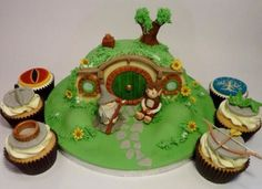 Lord of the Rings cupcakes - One cupcake to rule them all.