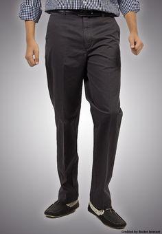 """Bien Habille IRONEEZEE Ebony """"Smart Fit"""" Wrinkle Free 100% Cotton Trouser Permanent Crease #men #style #fashion #menswear #Pants #Jeans #trousers #onlinemela www.onlinemela.pk Order Now: +92-334-333-6352"""