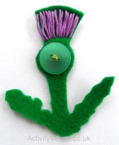 Our finished thistle brooch for a child's project