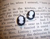 Tiny cameo earrings £5