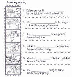KSSR Bahasa Malaysia Tahun 1: November 2011 Preschool Projects, Activities For Kids, Malay Language, Origami Flowers, Homeschool, November, Bullet Journal, School Kids, Templates