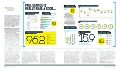 SPD recently got a peek of the new ESPN Analytics Issue, out on newsstands now. Art director Keir Novesky gives. Editorial Layout, Editorial Design, Tool Design, Layout Design, Design Ideas, Magazine Design, Magazine Layouts, Tech Magazines, Magazine Spreads