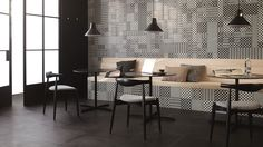 Mega-in sind Muster im Stil traditioneller Zementfliesen.