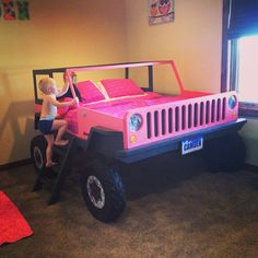 Pink Jeep Bed #kids #jeep #pink #girls #bed